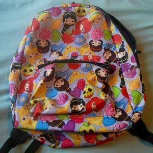Disney Emoji Princess School Backpack Multicolor